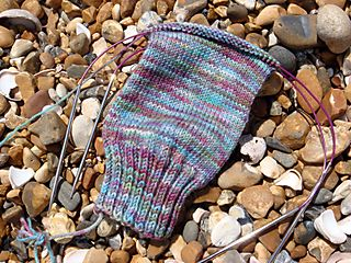 July 13 Hove beach knitting